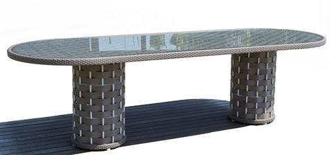 22901 Strips Oval Table B:280 H:100 cm